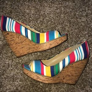 Nine West platform wedges
